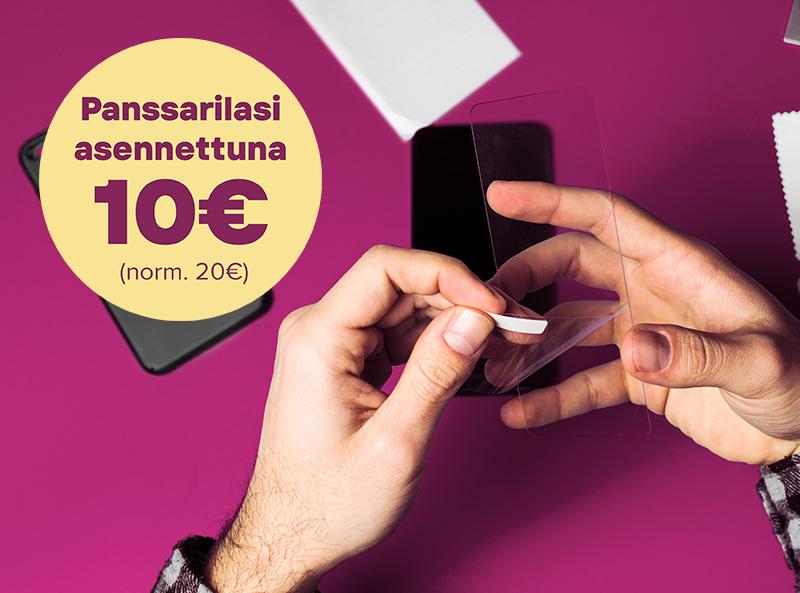 Panssarilasit nyt 10€ puhelimeesi asennettuna!